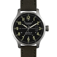 Filson Mackinaw Field Watch Black And Green Tin Cloth
