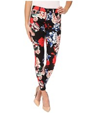 7 For All Mankind The Mid Rise Ankle Skinny In Peony Floral Peony Floral Women's Jeans Purple