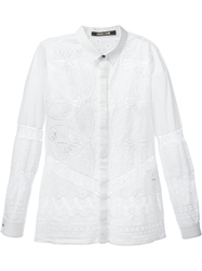 Roberto Cavalli Lace Detail Shirt White
