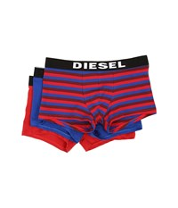 Diesel Shawn 3 Pack Boxer Shorts Banh Red Stripe Royal Solid Red Solid Men's Underwear