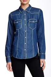 Sandra Ingrish Denim Two Pocket Shirt Blue