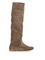 Tomas Maier Slouchy Suede Knee Length Boots