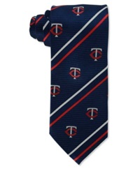 Eagles Wings Minnesota Twins Striped Tie Navy