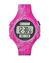 Adidas Unisex Graphic Print Polyurthane Lcd Sports Watch Pink