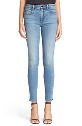 Women's Denim X Alexander Wang 'Whip' Skinny Ankle Jeans Washed Light Indigo