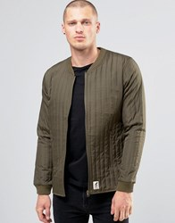 Fat Moose Lumber Quilted Bomber Army Green