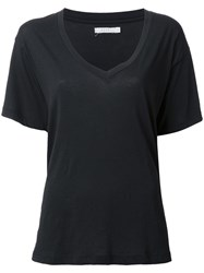 6397 V Neck T Shirt Black