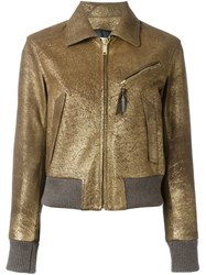 Golden Goose Deluxe Brand Metallic Leather Jacket