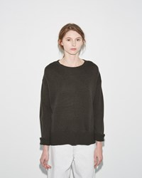 Organic By John Patrick Potato Sweater Dark Olive