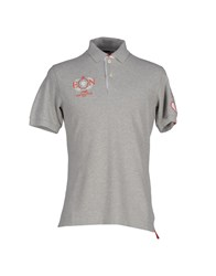 Etiqueta Negra Topwear Polo Shirts Men Light Grey