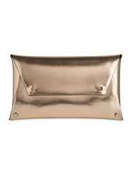 Whistles Studded Envelope Clutch Gold