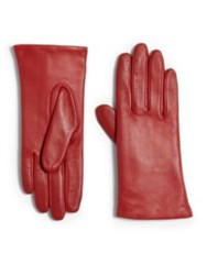 Grandoe Tech Leather Gloves Red Black Plum Brown