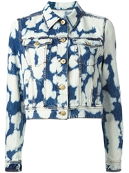 Fausto Puglisi Bleached Denim Jacket Blue