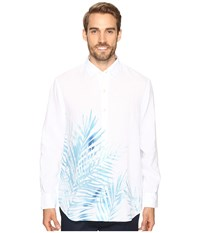 Tommy Bahama Fo'rio Fronds Long Sleeve Woven Shirt Maui Blue Men's Long Sleeve Button Up