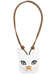 Loewe Cat Face Necklace White