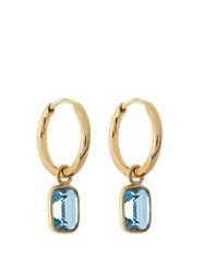 Theodora Warre Topaz And Gold Plated Earrings