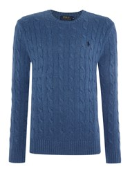 Polo Ralph Lauren Cable Knit Cotton Jumper Midnight Blue