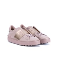 Valentino Leather Rockstud Trainers Pink Pale Pink