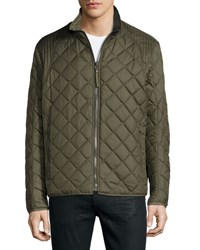 Marc New York Floyd Quilted Zip Up Jacket Olv