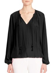 Ramy Brook London Tie Front Blouse Black
