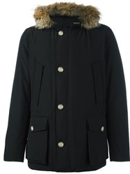 Woolrich Zipped Hooded Parka Coat Black