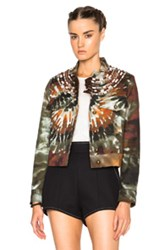 Valentino Tie Dye Fabarine Jacket In Green Ombre And Tie Dye