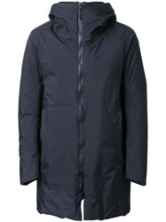 Attachment Padded Hooded Coat Black