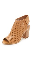 Steven Suzy Open Toe Booties Tan