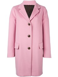Alberto Biani Button Front Coat Pink Purple