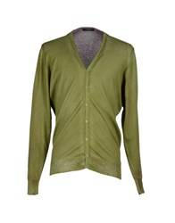 Alpha Massimo Rebecchi Knitwear Cardigans Men Military Green