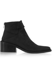 Helmut Lang Brushed Suede Ankle Boots