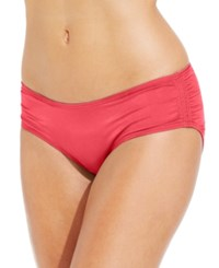 Coco Reef Ruched Hipster Bikini Bottom Women's Swimsuit Coral