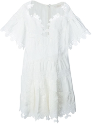 Chloe Chloe Embroidered Detail Playsuit White