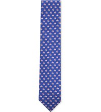 Thomas Pink Elephant And Castle Silk Tie Blue Pink