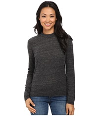 Alternative Apparel Eco Jersey Locals Only Henley Eco Black Women's Clothing