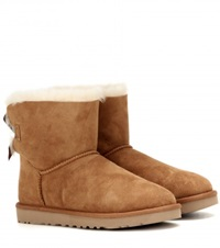 Ugg Mini Bailey Bow Suede Boots Brown