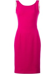 Dolce And Gabbana Tailored Dress Pink And Purple