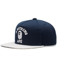 A Bathing Ape College Snapback Blue