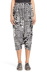 Women's Junya Watanabe Print Drop Crotch Crop Pants