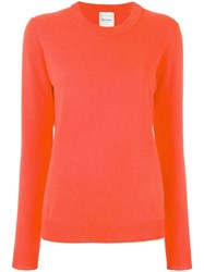 Paul Smith Round Neck Jumper Yellow Orange