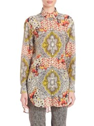 Etro Floral Print Blouse Yellow Multi