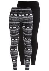 Roxy 2 Pack Leggings Black Blue