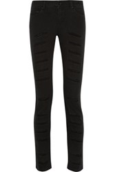 Mcq By Alexander Mcqueen Distressed Mid Rise Skinny Jeans Black