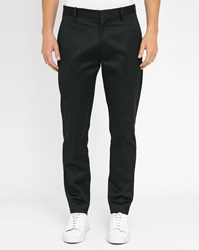 Acne Studios Black Cone Cotton Crop Trousers
