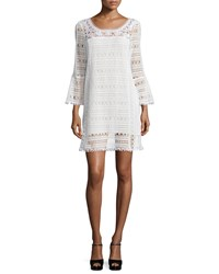 Nanette Lepore Long Sleeve Lace Dress White Size 0