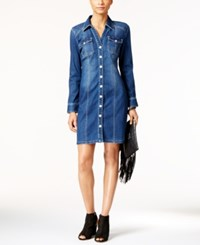 Inc International Concepts Denim Shirtdress Only At Macy's Dark Indigo