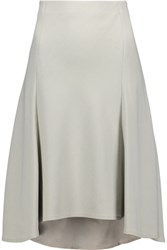 Brunello Cucinelli Wool Blend Twill Skirt Stone