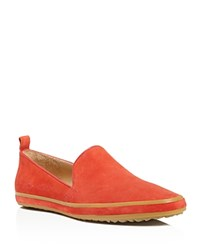 Bill Blass Sutton Suede Loafers Red