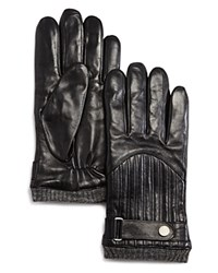 Polo Ralph Lauren Quilted Racing Gloves Black