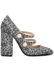 N 21 Nao21 'Galaxy Glitter' Pumps Metallic